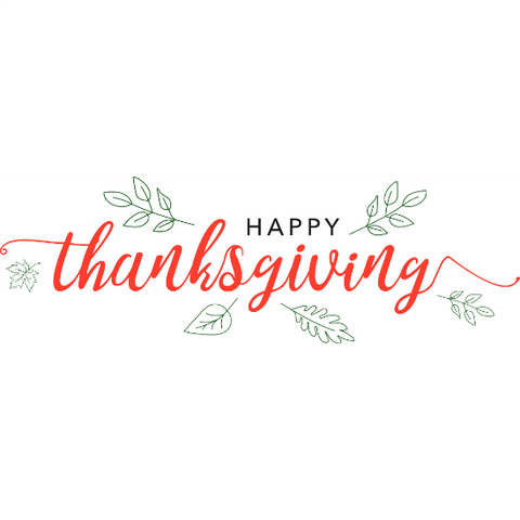 Happy Thanksgiving Window Cling Banner