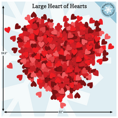 Large Heart of Hearts Valentine Window Cling