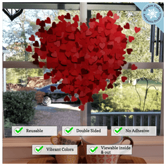 Heart of Hearts Valentine Window Cling Decoration