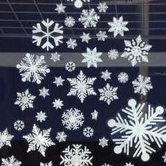 "The 72 Snowflake Jumbo Pack of snowflake window decal clings is perfect for large windows. This pack has 24, 4"" snowflake clings and 48, 2"" snowflake clings."