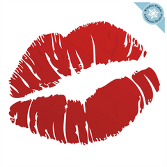 Lipstick Lips Valentine Window Cling Decoration