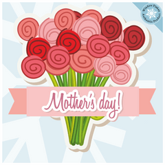 Mother's Day Bouquet Window Cling - Mothers Day Window Stickers - Mother's Day Window Decorations - Mother's Day Bouquet Vinyl Cling Mothers Day Store Window Display Cling