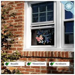 Happy Mother's Day Window Cling - Butterfly Window Cling