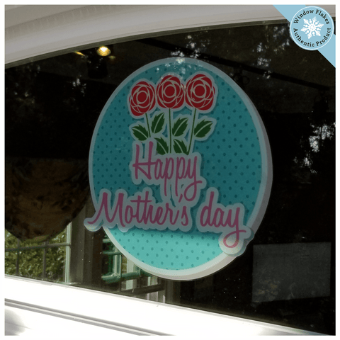 Happy Mother's Day With Roses Window Cling