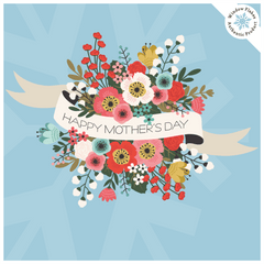 Mothers Day Window Stickers - Mother's Day Window Decorations - Mother's Day Vintage Flowers Vinyl Cling - Mothers Day Store Window Display Cling