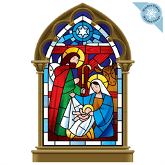 Christmas Window Clings - Nativity Scene Religious Christmas Window Decorations - Reusable and Non-Adhesive Christmas Window Stickers - Holiday Window and Door Decor Decals - Large