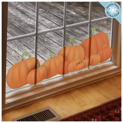 Thanksgiving Pumpkin Window Clings Border