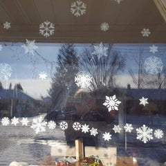 "24 Snowflake Pack of 2"" Snowflake Window Clings"