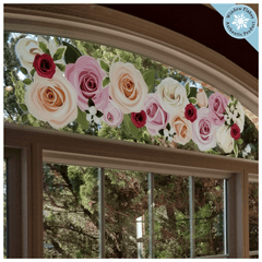 "Rose Border Valentine / Mothers Day Window Cling (47"")"