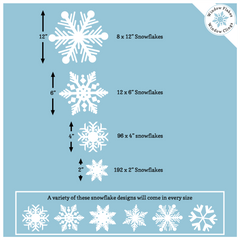 308 Snowflake Store Pro Pack of Snowflake Clings