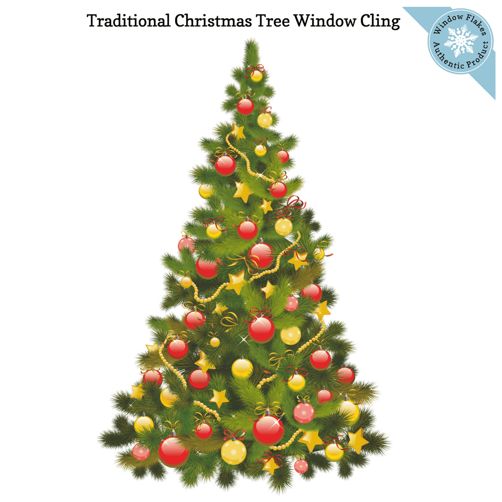 Traditional Christmas Tree Window Cling