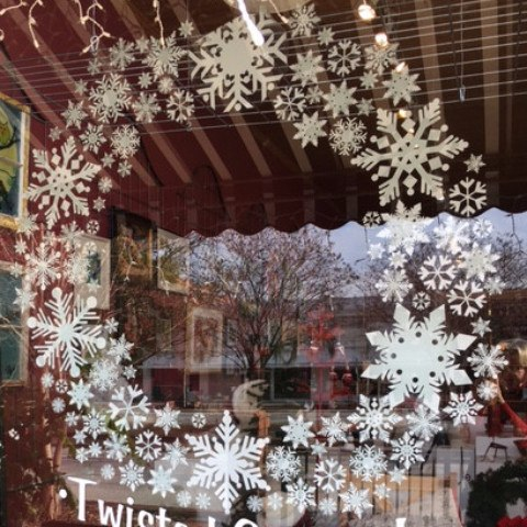 154 Snowflake Mega Pack of Snowflake Window Clings