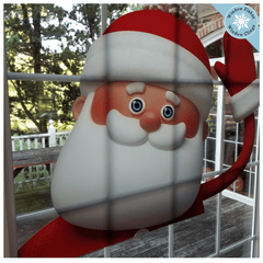 XL Waving Santa Christmas Window Cling