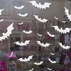 Roll of 20 bat decal clings to decorate Halloween windows