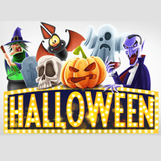 cast of halloween window cling full color double sided decal