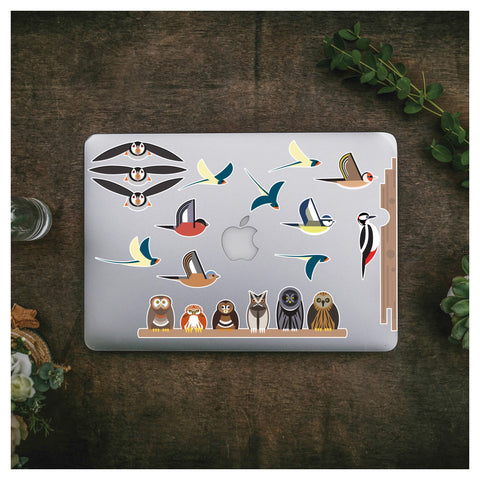 Variety of Birds Laptop Stickers - Stickers for Laptops