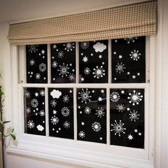 Clouds, Stars and Snowflake window decal clings