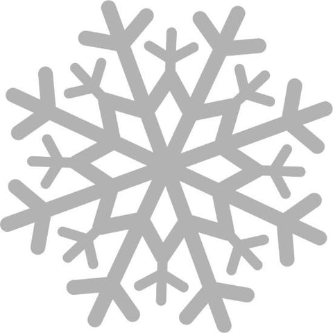 "48"" Snowflake Decal Cling"