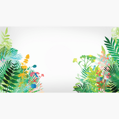 Jungle Foliage Corners Window Clings (set of 2) :: From Window Flakes