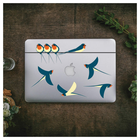 Swallows Sticker Pack - Stickers for Laptops