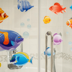 Tropical Fish Window Cling Set