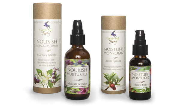 Nourish Moisturizer and Moisture Monsoon Serum Grateful Body skin care