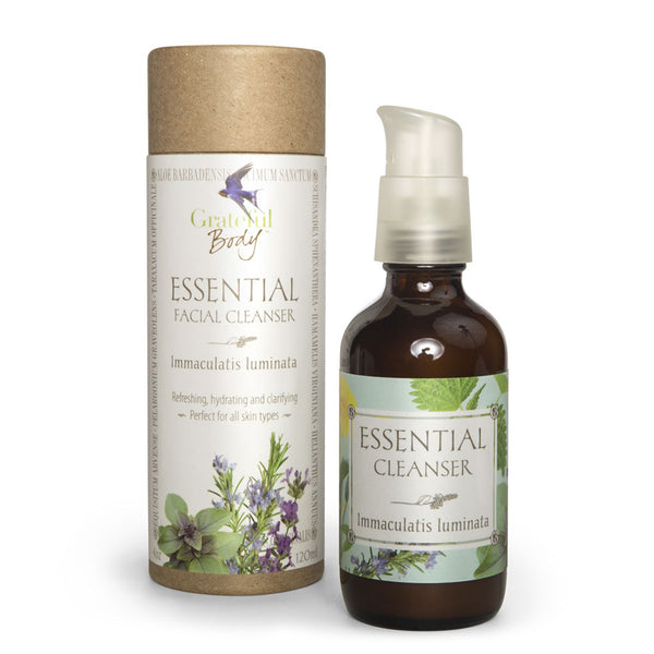 Essential Facial Cleanser Grateful Body organic exfoliating hydrating