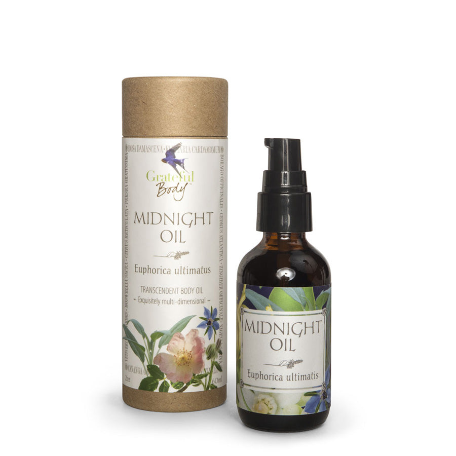 Midnight Oil body oil Grateful Body holistic organic essential oils massage