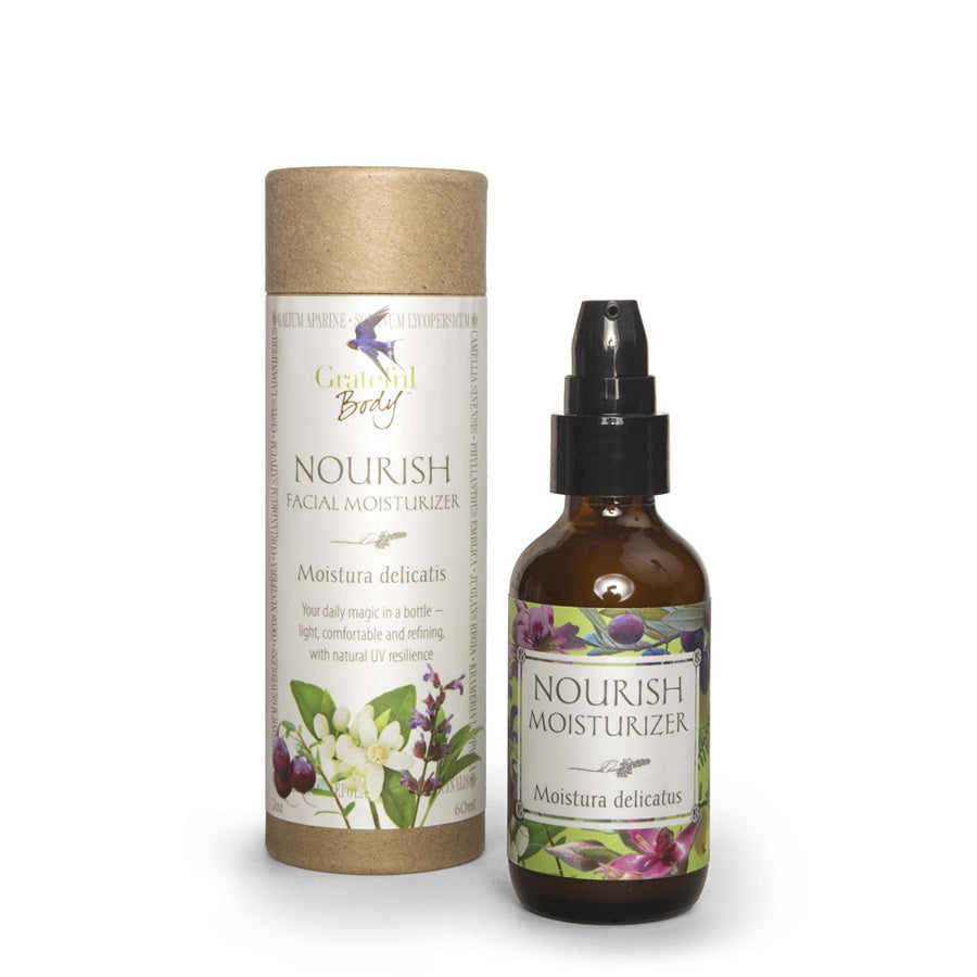 Nourish Facial Moisturizer Grateful Body organic holistic nontoxic vegan cruelty-free