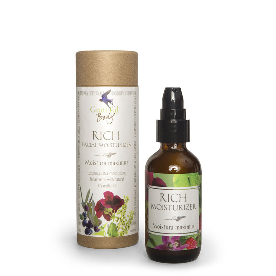 Rich facial moisturizer Grateful Body organic vegan cruelty-free
