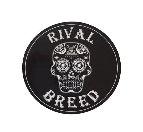"Rival Breed Sugar Skull Sticker (3 1/2"")"