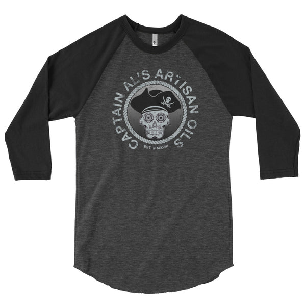 Captain Al's 3/4 sleeve raglan shirt