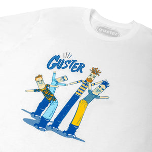 Wacky Inflatable Arm Flailing Guster Man Tee (Heather White)