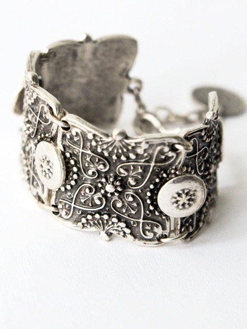 Bohemian Silver Bracelet - Kat Made Jewelry - Geometric and Crystal Jewelry - Vancouver, Canada