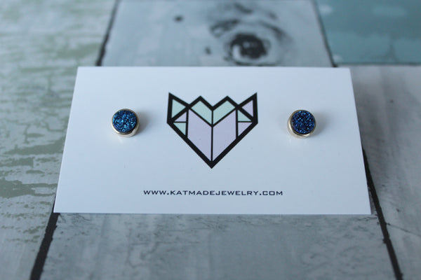 Hidden Gem Studs - 3 Colours Available - Kat Made Jewelry  - 5