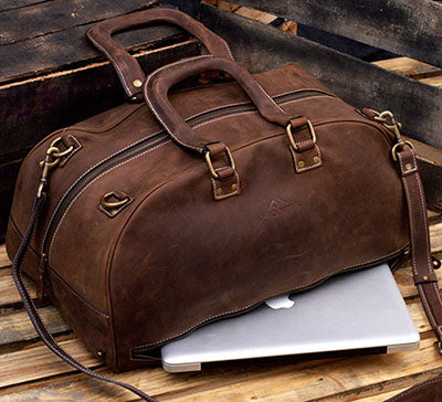 24 Inch Leather Duffel Bag