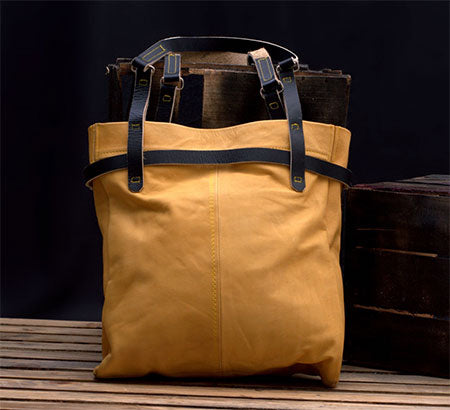 Carryall Soft Extra-large Leather Tote Bag For Work