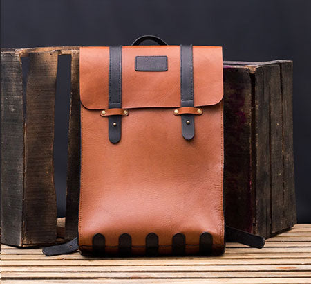 Vegetable Tanned Office Leather Backpack