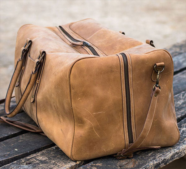 Christmas Gift: Leather Carry On Duffel Bag