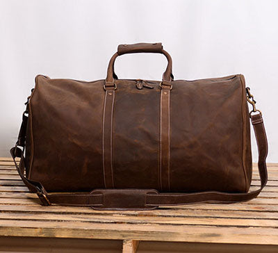 Extra Large Leather Duffle Bag