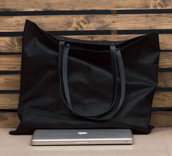 Extra Large Leather Travel Tote