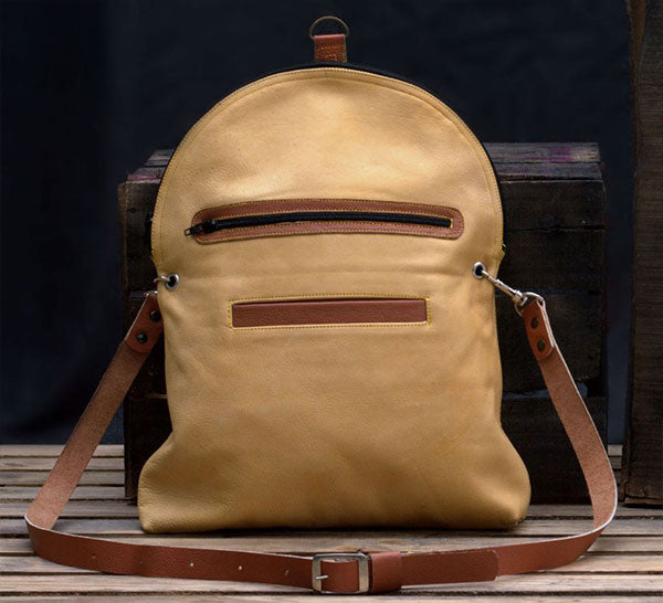Rama Convertible Leather Backpack Purse