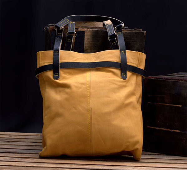 Large Leather Travel Tote