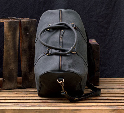Men's Leather Gym Bag