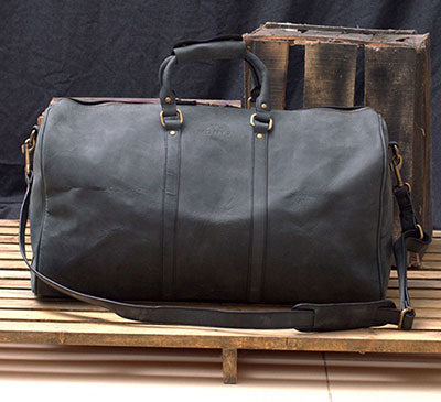 Men's Large Leather Duffel Bag