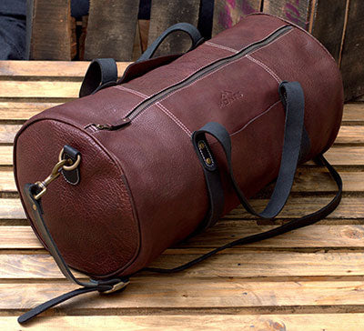 Men's Leather Overnight Travel Bag