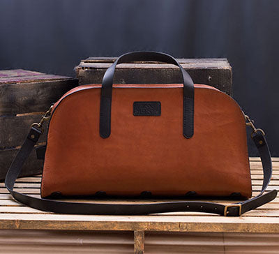 Men's Small Leather Duffle Bag