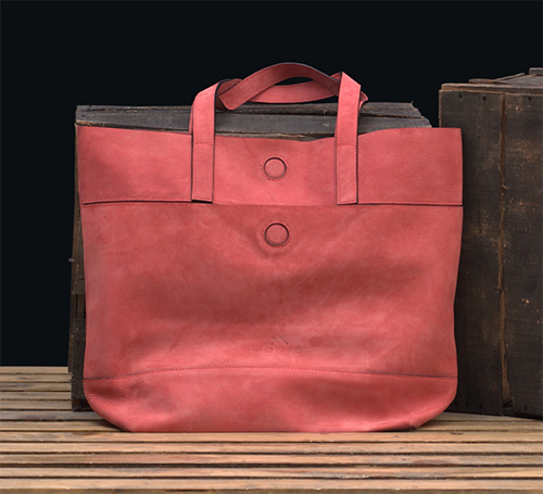 Jagrogo Handcrafted Women Pink Leather Tote