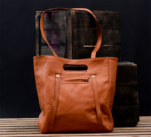 Kutton Personalized Carryall Women Tan Leather Bag