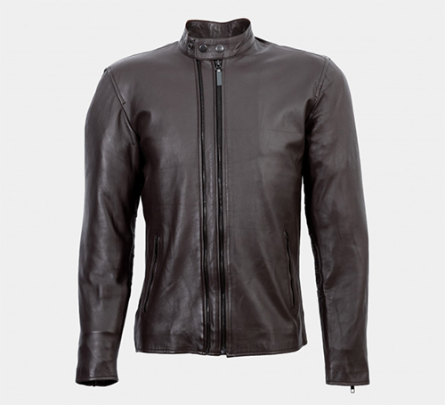 Deosai - Premium Men's Fitted Brown Leather Jacket
